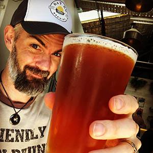 Kerry Wilson with craft beer