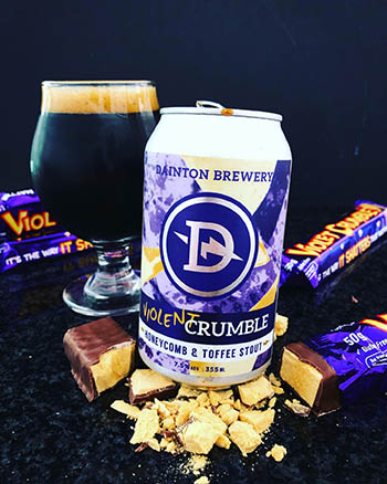 Violent Crumble Honeycomb & Toffee Stout - Dainton Brewery